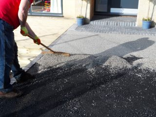 Laying Durable Resin Driveway