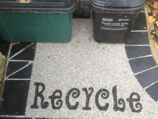 in bound ecycling stencil completed at home in Bath