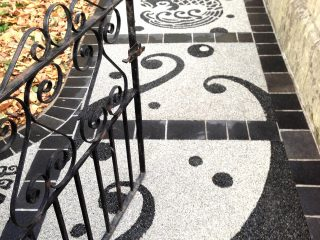 Resin bound path at property in Bath
