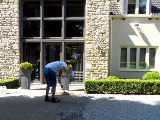 Resin drive clean effective laying